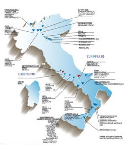 Offices and construction sites in Italy