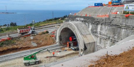 Autoroute Salerne – Reggio Calabria, réalisation tunnel Pilone (Reggio Calabria)